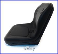 (1) Black HIGH BACK Seat for John Deere Gator 4x2 6x4 Diesel Trail Worksite Turf