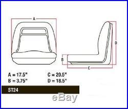 (1) HIGH BACK Seat for John Deere Gator UTV 4x2 6x4 Diesel Trail Worksite Turf