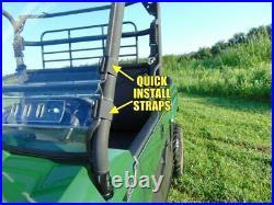 2010-14 John Deere Gator HPX/XUV Premium Lexan Windshield with Quick Straps
