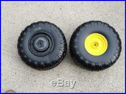 2X NEW John Deere Peg Perego Gator 1ST GEN Rear Wheel Set (2 Tires)