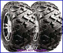 (2) 27X9-R14 New Duro Power Grip V2 Front Tires For John Deere Gators 625i/825i