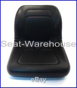 (2) Black HIGH BACK Seats for John Deere Gator XUV 620i, 850D, 550, 550, #AIB2