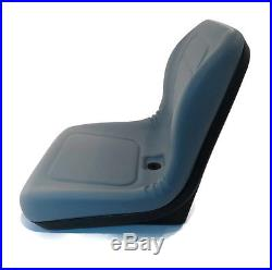 (2) Grey HIGH BACK SEATS with Pivot Rod Bracket John Deere Gator 4x2 6x4 Diesel