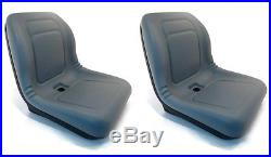 (2) Grey HIGH BACK Seats John Deere Gator Military 6x4 M-Gator A1 Utility UTV