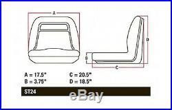 2 John Deere Yellow Gator Seats 18 4x4 4x2 4x6 XUV Diesel CX TX TH TE Turf +