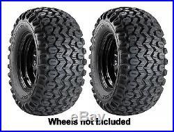 (2) New Carlisle 22.5x10x8 HD Field Trax Front Tires For John Deere Gator UTV's