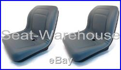 (2) New Grey HIGH BACK SEATS, John Deere GATORS, FITS MANY MAKES & MODELS #AIG2