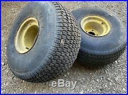 2 Rear Wheel Tire and Rims 25x12.00-9 NHS John Deere Gator AM143569 M118819