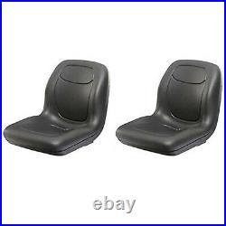 (2) Two Black High Back Seats Fits John Deere Gator XUV 620i, 850D, 550, 550