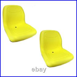 (2) Yellow HIGH BACK Seats Fits John Deere Gator Gas Diesel 4x2 4x4 HPX TH 6x4 #