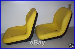 (2) Yellow High Back Seats Jd John Deere Gator, 4x2,4x4,6x4. Cx, Te, Th, Tx #jr