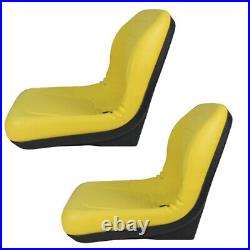 2 Yellow Vinyl Seats Fits John Deere Gator Model E-Gator CS CX 4x4 Trail HPX TE