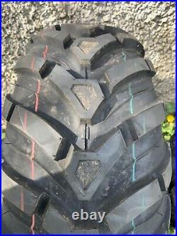 £383+vat 25x8-12 / 25x10-12 =X4 Set John Deere Gator TYRES ATV QUAD BIKE TakeOff