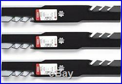 3 Oregon Gator Mulching Blades 48 Inch Mower John Deere LA130 D140 Z245 GX21784
