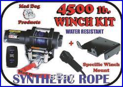 4500lb Mad Dog Synthetic Winch/Mount Kit 2011-2019 John Deere Gator 825i / 825M