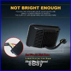 4Pcs LED Headlight Seald Beam YellowithWhite John Deere Gator 4x2 AMT 600 622 626