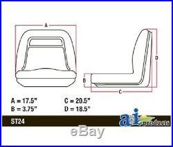 (4) HIGH BACK Seats for John Deere Gator XUV 620i, 850D, 550, 550 S4 UTV Utility