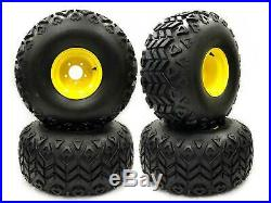 (4) Rear Wheel Assemblies fits John Deere Gator 25x13.00-9 Repl AM143569 M118819