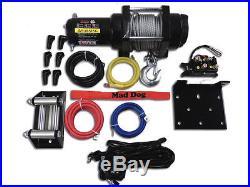 66 KFI Complete Snow Plow Kit with Mad Dog Winch Kit 12-15 John Deere Gator 550