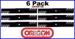 6 Pack Oregon 396-734 G6 Gator Blade Fits John Deere AM100538 M87622 M141785