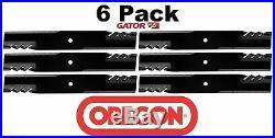 6 Pack Oregon 396-769 G6 Gator Blade Fits John Deere M136195 M144652 M164016 54