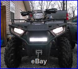 72W 14 LED Light Bar withHandlebar Mounting Bracket, Wiring For ATV UTV Dirt Bike
