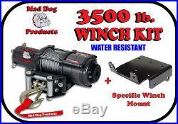 72 KFI Complete Snow Plow Kit with Mad Dog Winch Kit 11-16 John Deere Gator 825i