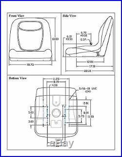 Black HIGH BACK Seat for John Deere Gator Model E-Gator CS CX 4x4 Trail HPX TE