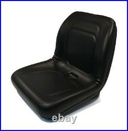 Black High Back Seat for John Deere G100, GT235, GT275, GX345, L100, L105, L107