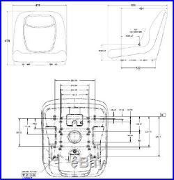 Coque de Siège Siège de Tracteur pour John Deere Tracteur de Pelouse Gator
