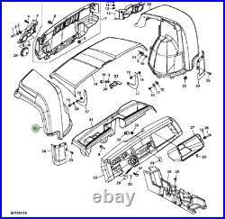 Genuine John Deere HPX Gator Agriculture Utility Vehicle LH M153764 Left