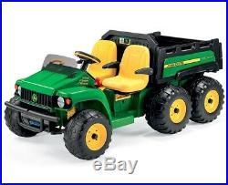 John Deere 24V Gator HPX 6x4 Kids Electric Tractor Two Seater Green/Yellow Peg