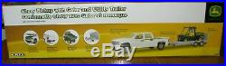 John Deere 825 Gator Chevy Dealer Pickup Truck & Trailer 1/16 Ertl Big Farm Toy