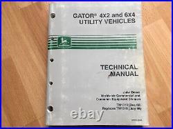John Deere Gator 4x2 6x4 Utility Vehicles factory Technical Repair manual TM1518