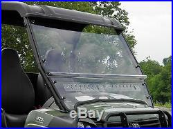 John Deere Gator HPX/XUV 2 Pc Vented Hard Coat Windshield withQI Straps -Ship Free