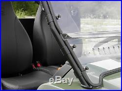 John Deere Gator HPX/XUV 2 Pc Vented Windshield-BETTER-FREE SHIPPING