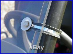 John Deere Gator HPX/XUV 2 Pc Vented Windshield-GOOD-FREE SHIPPING