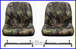 John Deere Gator Pair (2) Camo Seats fit CS and CX with Bracket To Tip Forward