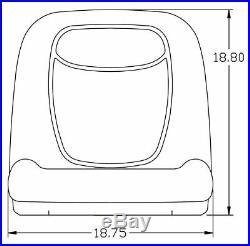 John Deere Gator Pair (2) Gray Vinyl Seats fit Turf TX TXTurf Worksite and XUV