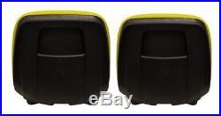 John Deere Gator Pair (2) Yellow Seats Fit E-Gator TH6X4 TE and Trail Serie