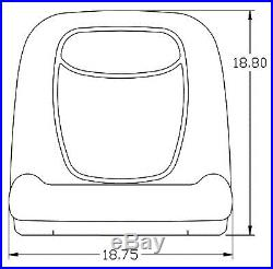 John Deere Gator Pair (2) Yellow Vinyl Seats fit Turf TX TXTurf Worksite and XUV