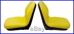 John Deere Gator Pair (2) Yellwo Vinyl Seats Fit 4x2 With Serial # 19551 & UP