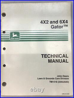 John Deere Gator Technical Manual 4x2 6x4 Tm1518