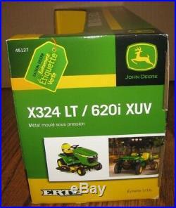 John Deere X324 Lawn Tractor & 620I XUV Gator 1/16 Set 2009 Ertl Toy 45127 jd