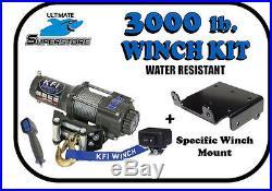 KFI 3000 lb. Winch Mount Kit'12-17 John Deere Gator RSX 850i / RSX 860i