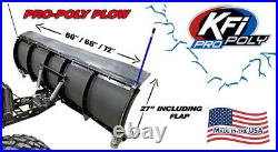 KFI 72 UTV Poly Blade Snow Plow Kit for 2004-2017 John Deere Gator HPX 4x4 2x4