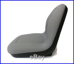 New Grey HIGH BACK SEAT for John Deere GATORS Made by MILSCO Made in USA
