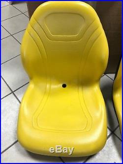 Original John Deere Gator High Back Yellow Seat 855d, 850i, 625i, 825i, 4x4,6x4