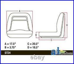 SEAT, 18', YELLOW VINYL For John Deere Part# VG11696