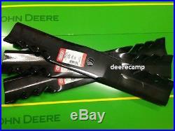 Set/3 54 Gator mulching mower blades for John Deere 425,445,455 396706